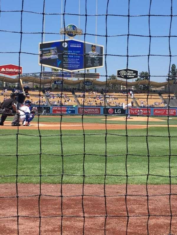 Dodger Stadium, sección: 2DG, fila: AA, asiento: 1