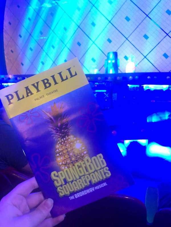 Palace Theatre (Broadway), sección: Orchestra, fila: C, asiento: 108
