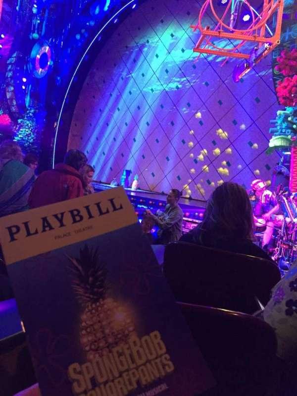 Palace Theatre (Broadway), sección: ORCH, fila: J, asiento: 4