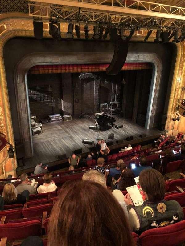 Walter Kerr Theatre, sección: Mezzanine left, fila: G, asiento: 15