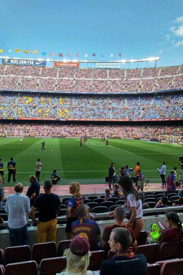 Camp Nou, sección: 108, fila: 05, asiento: 10