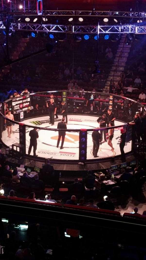 Mohegan Sun Arena , sección: 106, fila: B, asiento: 9