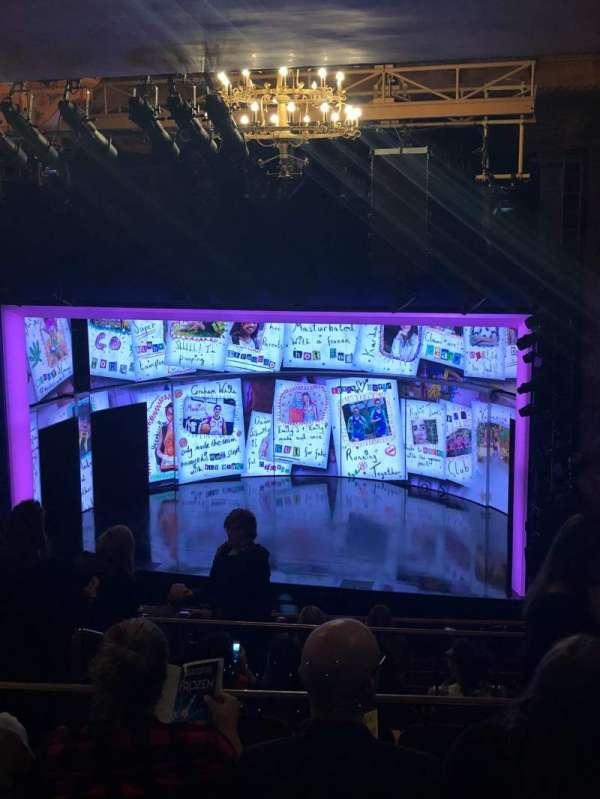 August Wilson Theatre, sección: Mezzanine Right, fila: L, asiento: 12