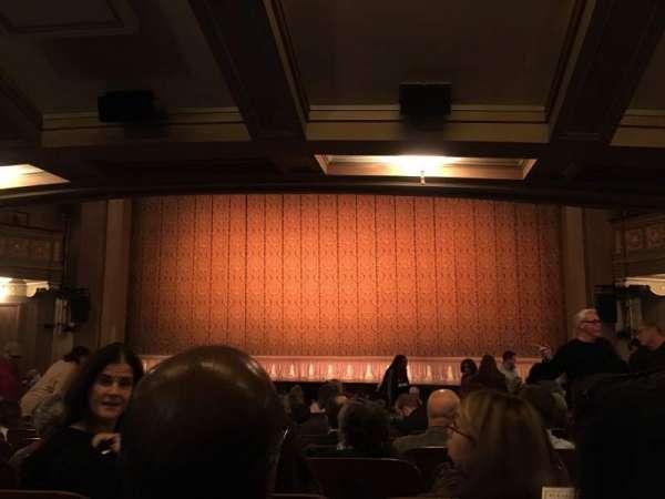 Booth Theatre, sección: Orch, fila: O, asiento: 115