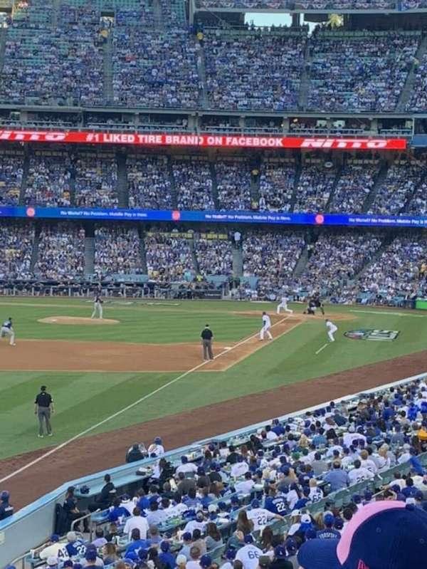 Dodger Stadium, sección: 161LG, fila: C, asiento: 8