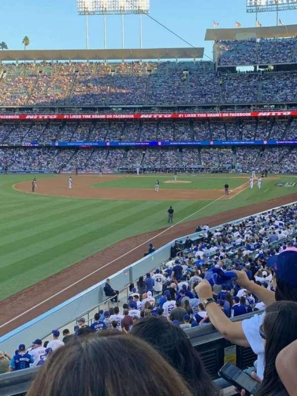 Dodger Stadium, sección: 161LG, fila: C, asiento: 6