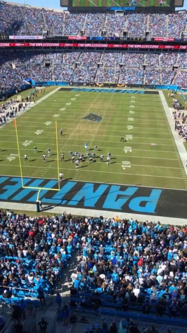 Bank of America Stadium, sección: 527, fila: WC, asiento: 7
