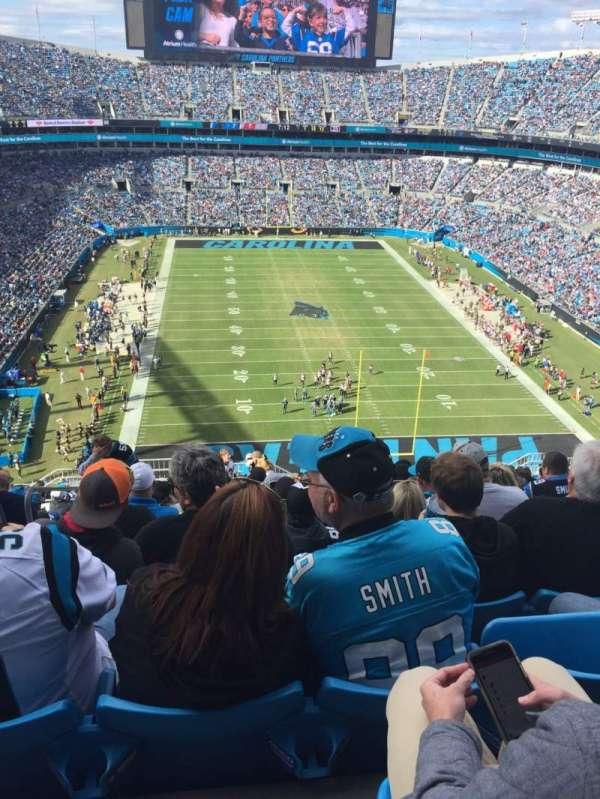 Bank of America Stadium, sección: 529, fila: 19, asiento: 23