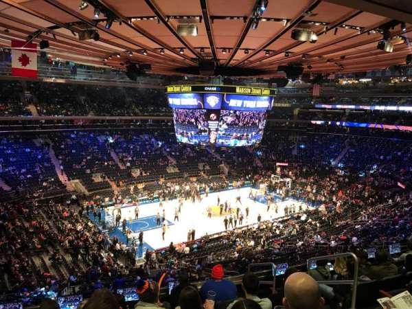 Madison Square Garden, sección: 208, fila: 8, asiento: 16
