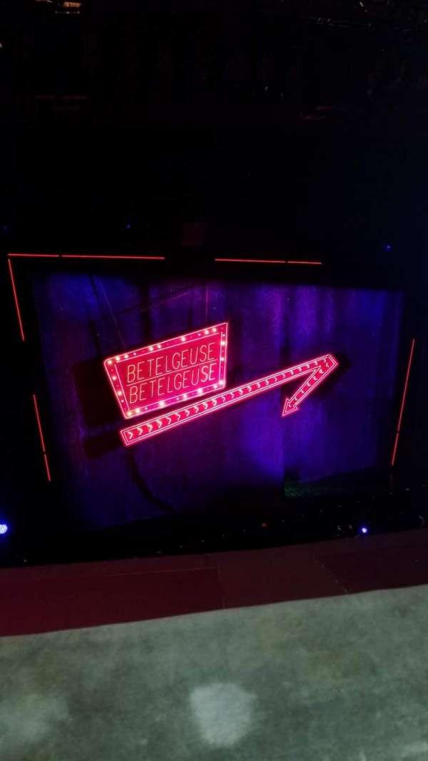 National Theatre (DC), sección: Balcony, fila: A, asiento: 11