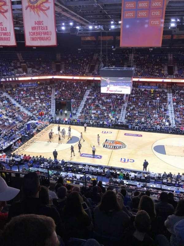 Mohegan Sun Arena, sección: 106, fila: K, asiento: 11