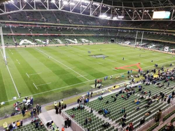 Aviva Stadium, sección: 529, fila: A