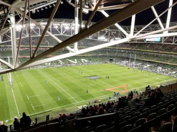 Aviva Stadium, sección: 529, fila: R, asiento: 15