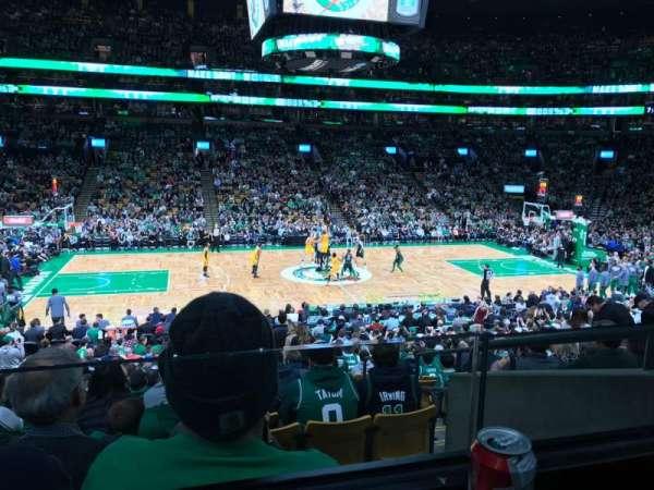 TD Garden, sección: 113, fila: AA, asiento: 1