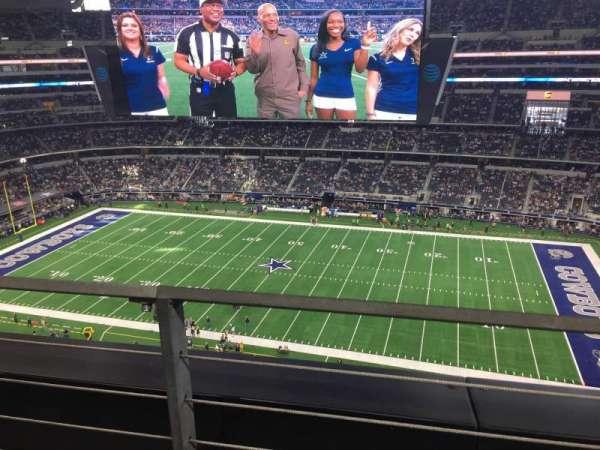 AT&T Stadium, sección: 410, fila: 1, asiento: 9