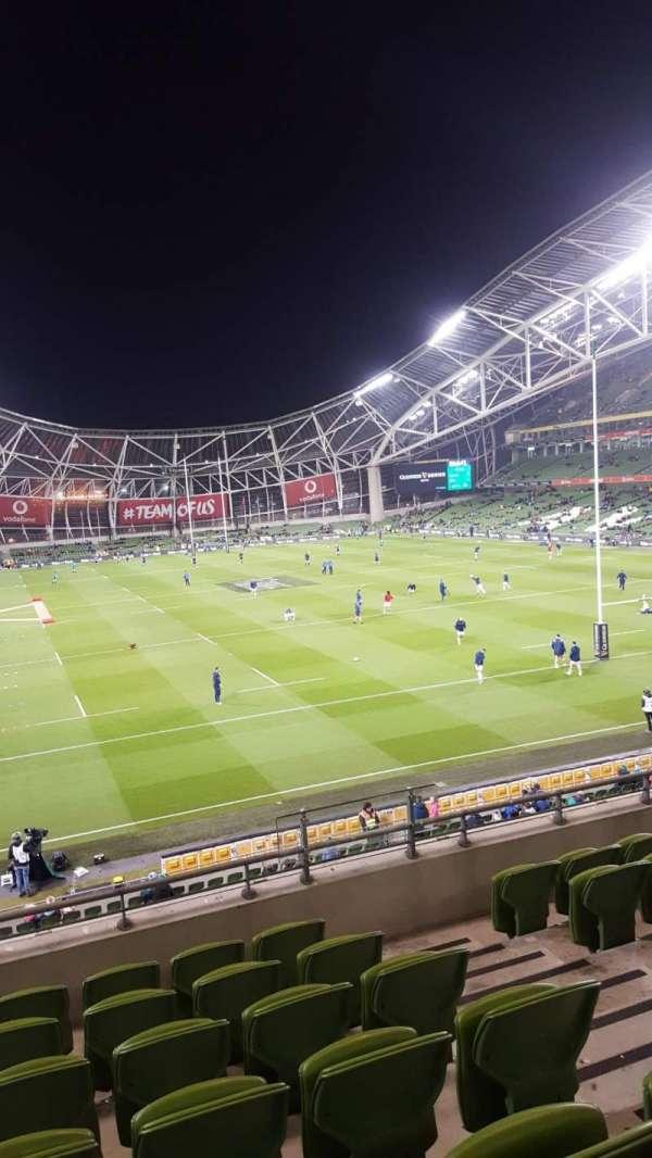 Aviva Stadium, sección: Block 318, fila: G, asiento: 17