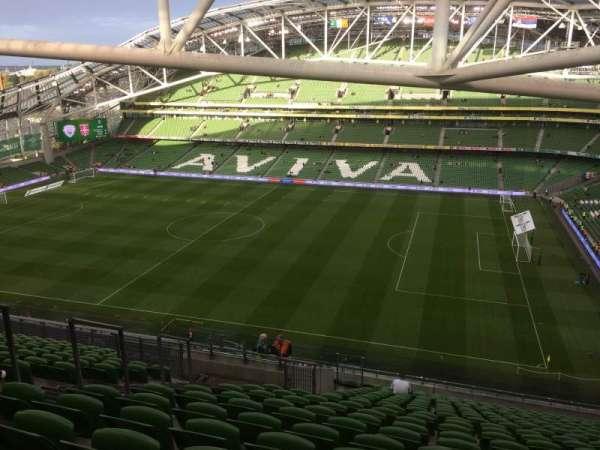 Aviva Stadium, sección: 523, fila: X, asiento: 8