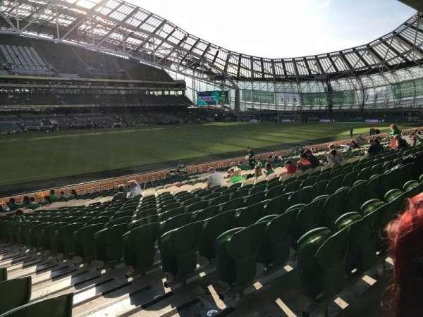 Aviva Stadium, sección: 107, fila: AA, asiento: 16