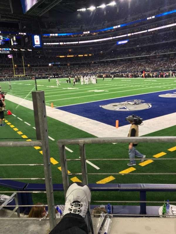 AT&T Stadium, sección: 101, fila: 1, asiento: 12