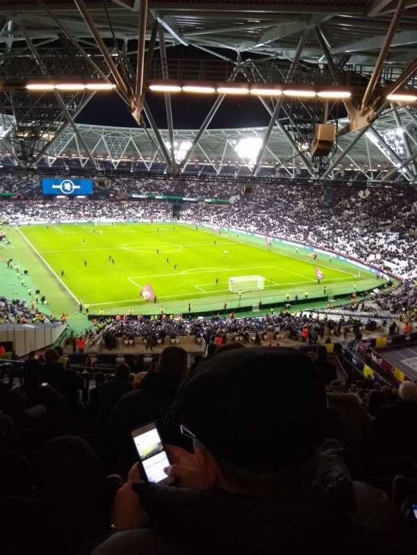 London Stadium, sección: 218, fila: 65