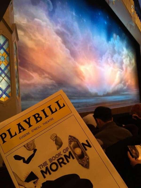 Eugene O'Neill Theatre, sección: Orchestra Left, fila: E, asiento: 17