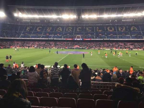 Camp Nou, sección: 134, fila: 12, asiento: 11