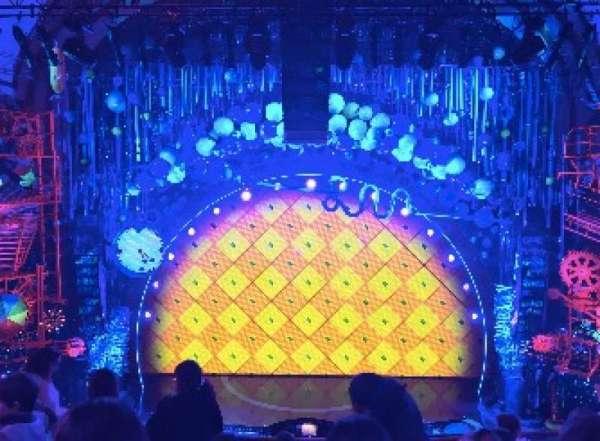 Palace Theatre (Broadway), sección: MEZZ, fila: F, asiento: 109