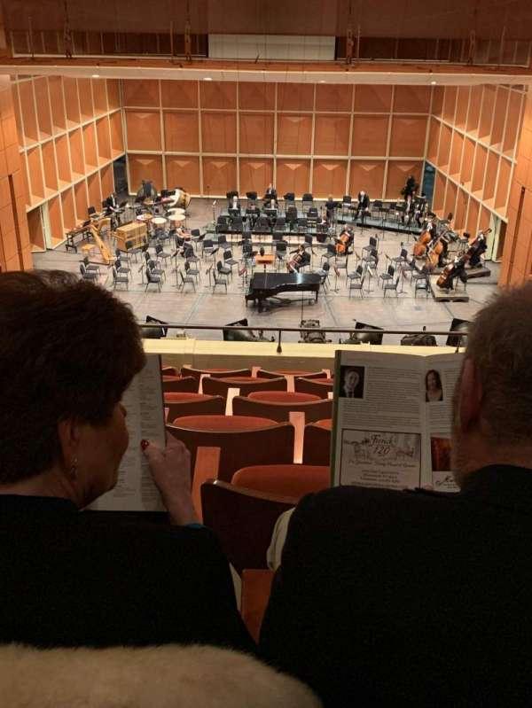 Uihlein Hall, sección: Center Loge, fila: G, asiento: 28
