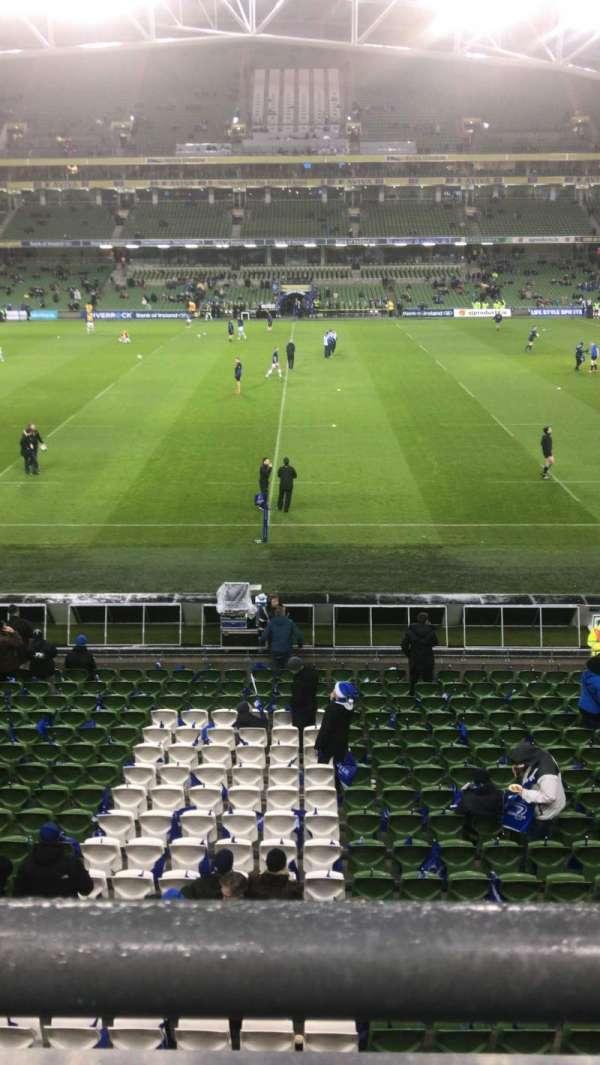 Aviva Stadium, sección: 305, fila: A, asiento: 26