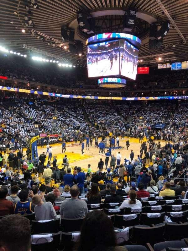 Oracle Arena, sección: 105, fila: 14, asiento: 18