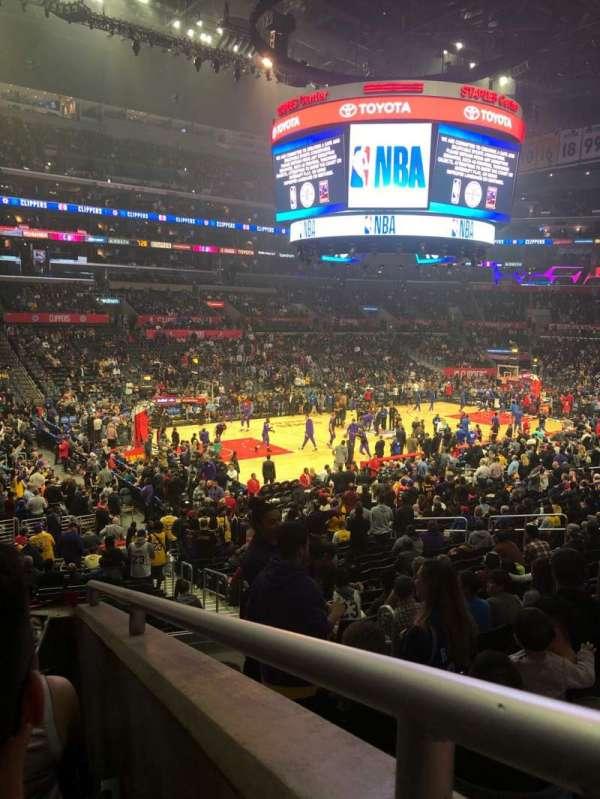 Staples Center, sección: PR8, fila: 4, asiento: 4