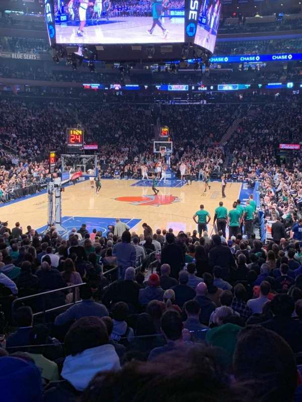 Madison Square Garden, sección: 103, fila: 11, asiento: 5