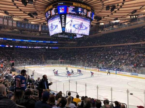 Madison Square Garden, sección: 120, fila: 12, asiento: 10