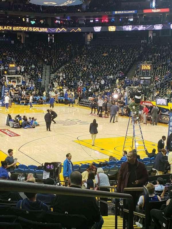 Oracle Arena, sección: 109, fila: 13, asiento: 5-7
