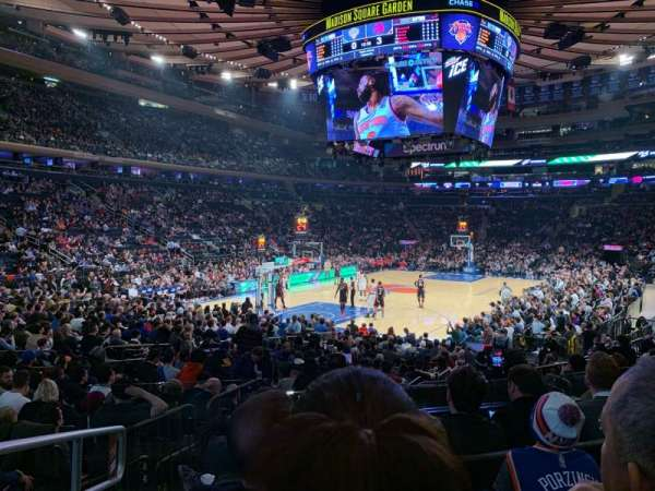 Madison Square Garden, sección: 114, fila: 10, asiento: 1