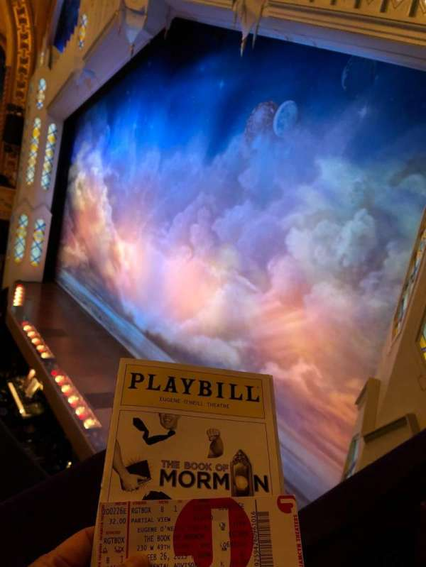 Eugene O'Neill Theatre, sección: Right Box, fila: B, asiento: 1