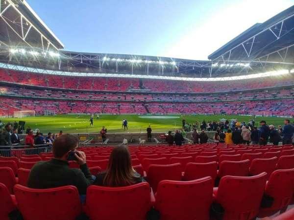 Wembley Stadium, sección: 102, fila: 12, asiento: 62
