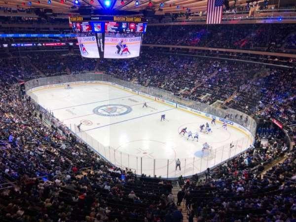 Madison Square Garden, sección: 414, fila: 1, asiento: 6