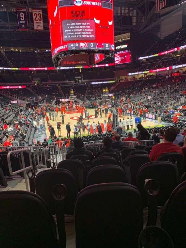 State Farm Arena, sección: 103, fila: H, asiento: 14