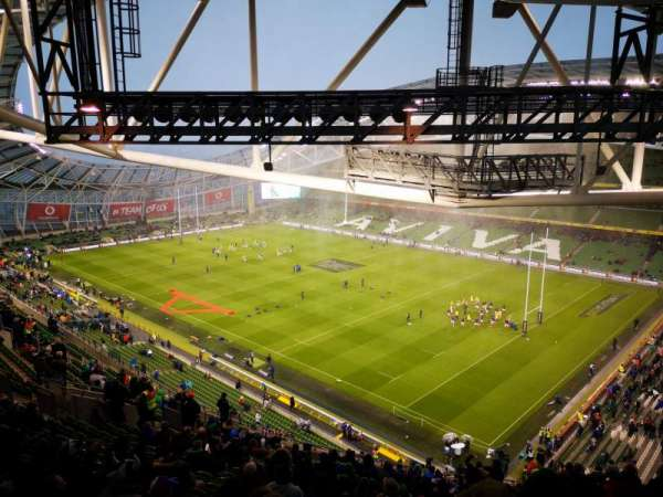 Aviva stadium , sección: 520, fila: X, asiento: 17