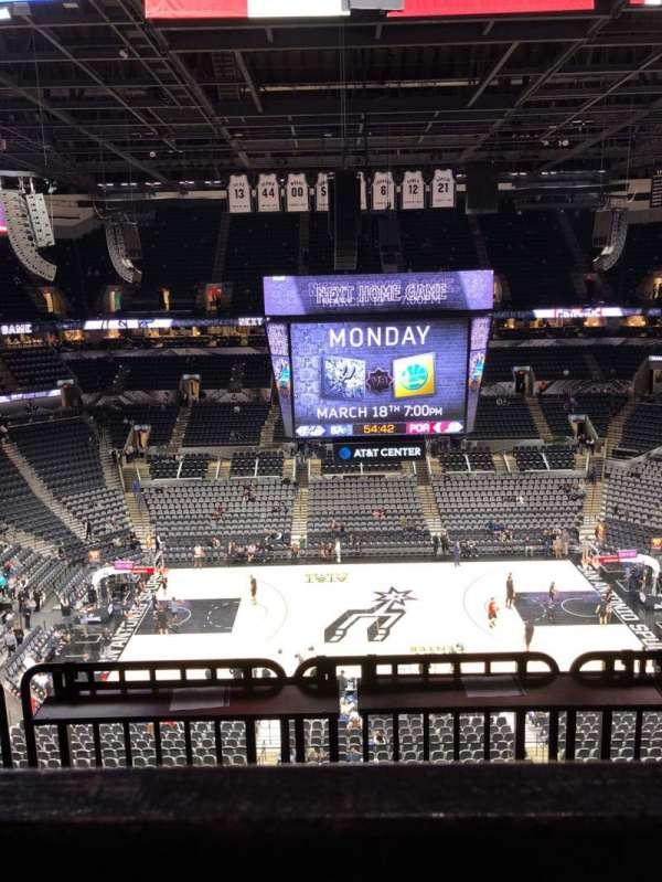 AT&T Center, sección: 208, fila: 5, asiento: 15
