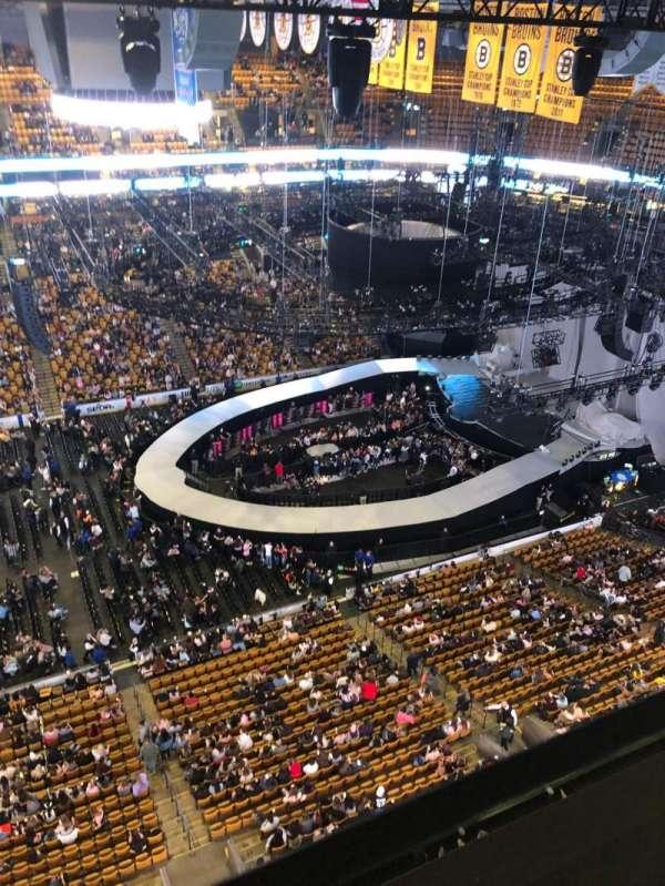 TD Garden, sección: S13, asiento: 4