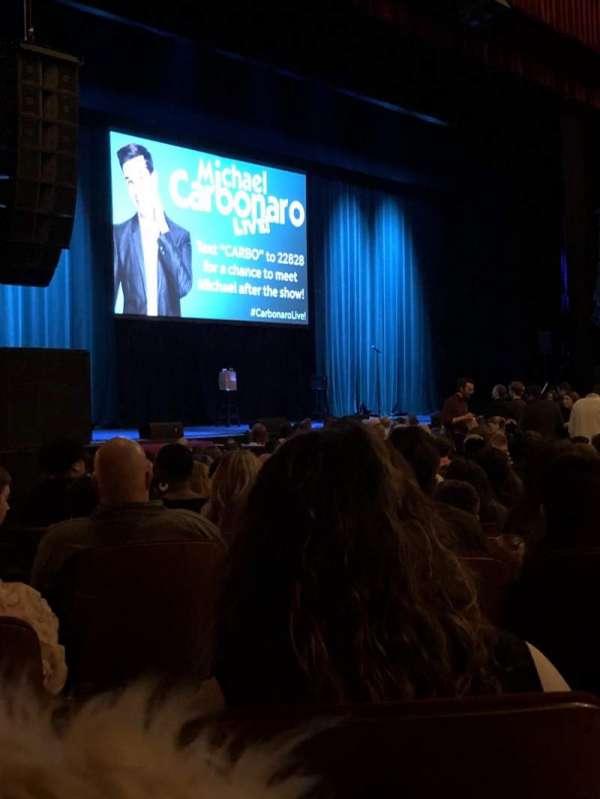 Chicago Theatre, sección: Mnfl2L, fila: D, asiento: 107