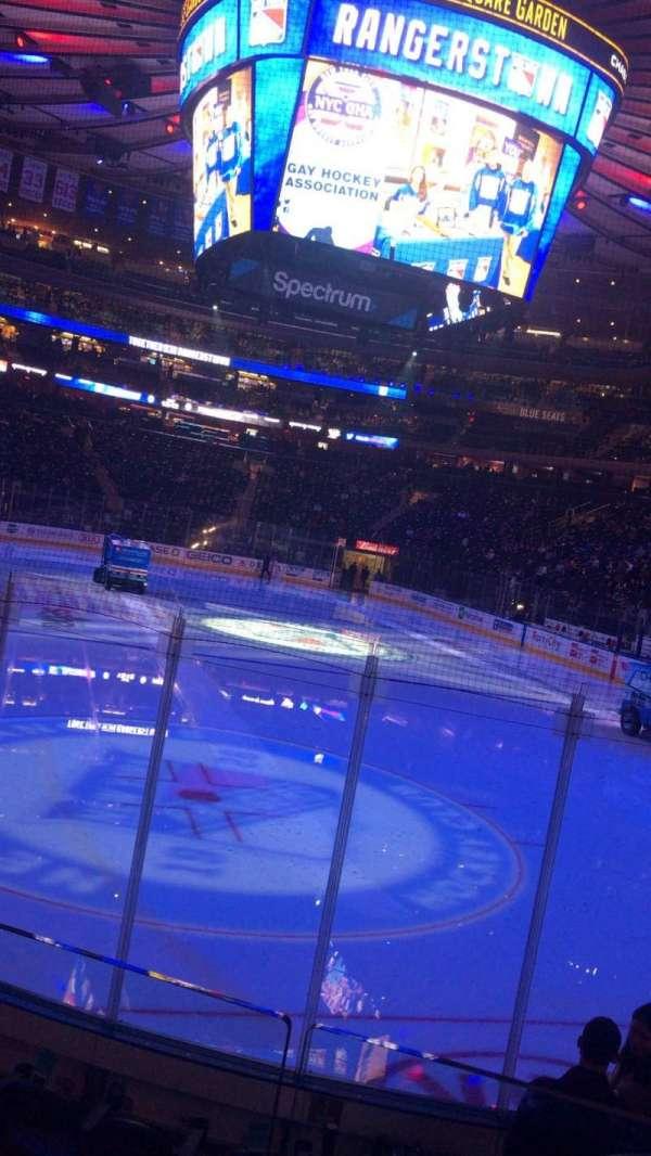 Madison Square Garden, sección: 101, fila: 7, asiento: 6