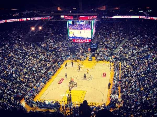 Oracle Arena, sección: 208, fila: 16, asiento: 1