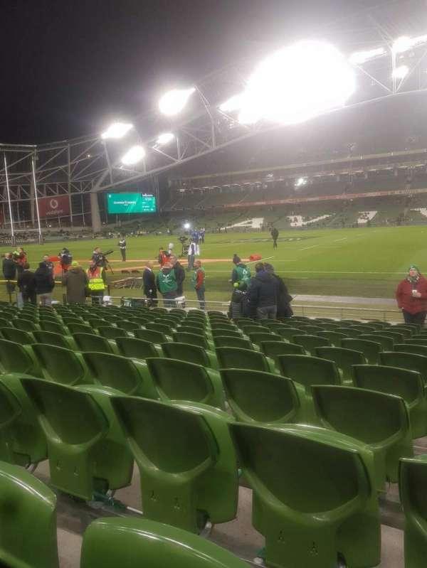 Aviva Stadium, sección: Block 123, fila: M, asiento: 17