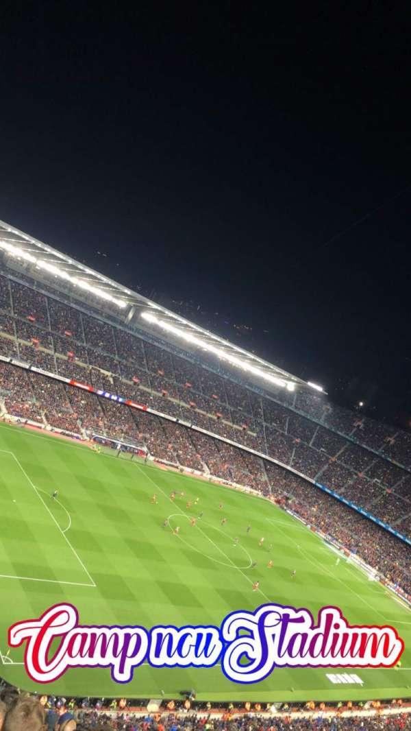 Camp Nou, sección: 428, fila: 14, asiento: 17