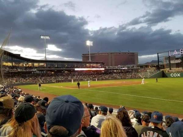Las Vegas Ballpark, sección: 103, fila: H, asiento: 11
