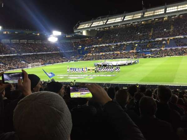 Stamford Bridge, sección: West stand lower, fila: 30, asiento: 53