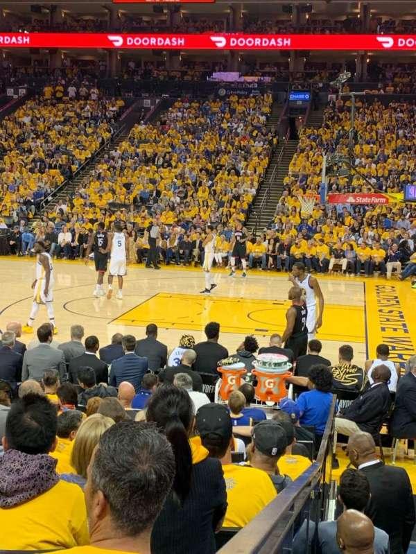 Oracle Arena, sección: 127, fila: 7, asiento: 9